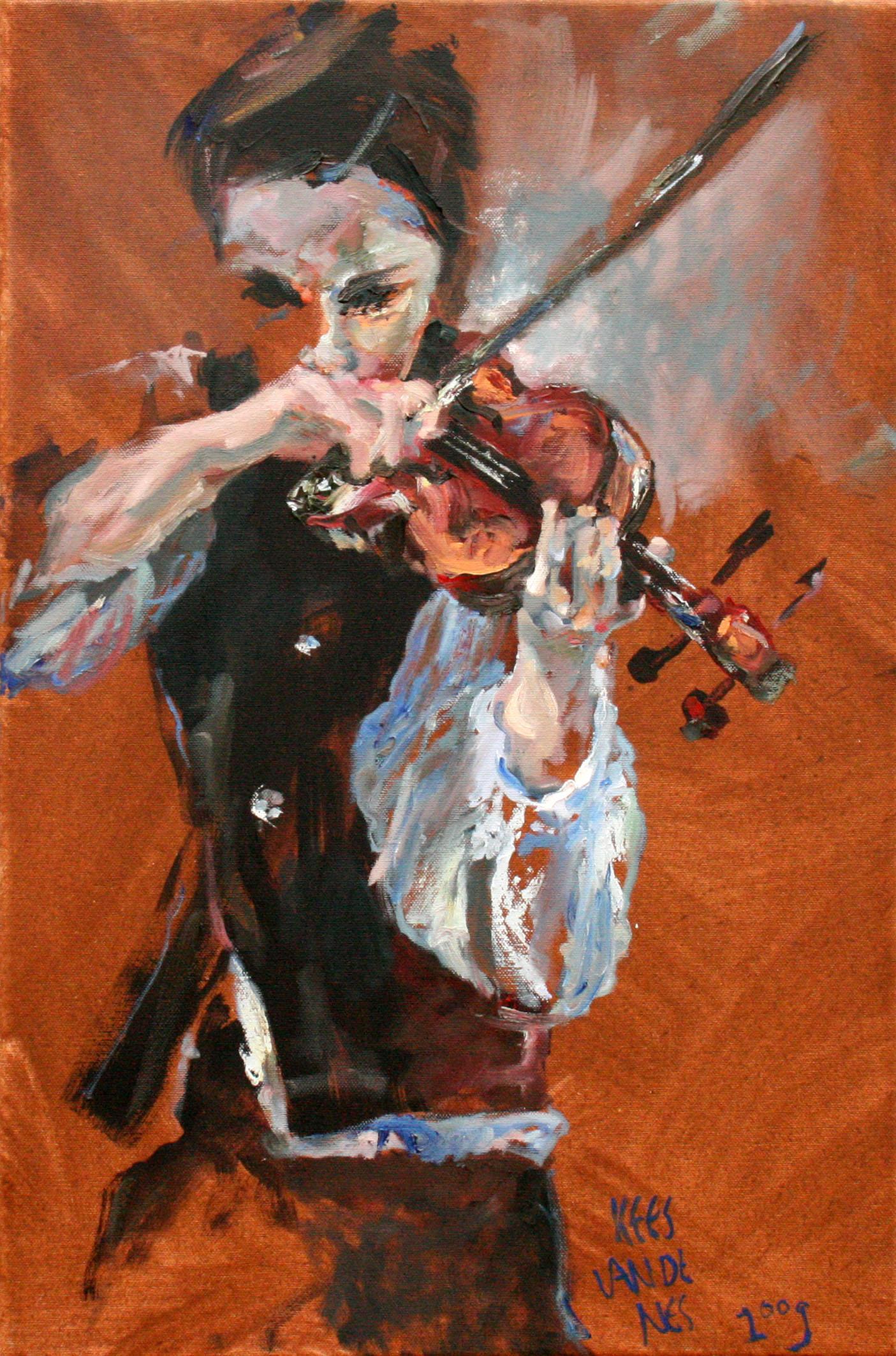hr Jazz serie violist3b 40x60
